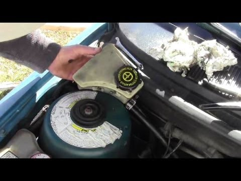 How to Remove Install Power Steering Reservoir