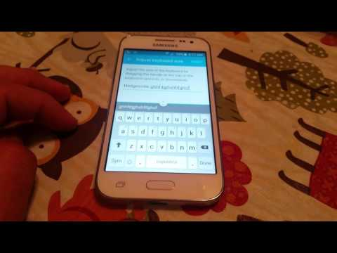 How to adjust keyboard size on the Samsung galaxy core prime