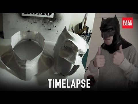 Timelapse - Make DOJ Batman Mask Cowl DIY Cosplay