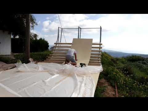 Skate ramp build