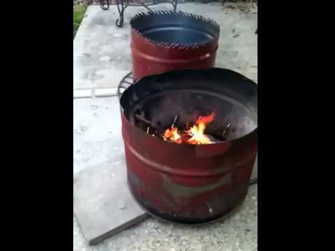 55 gallon drum firepits-mini burn barrels