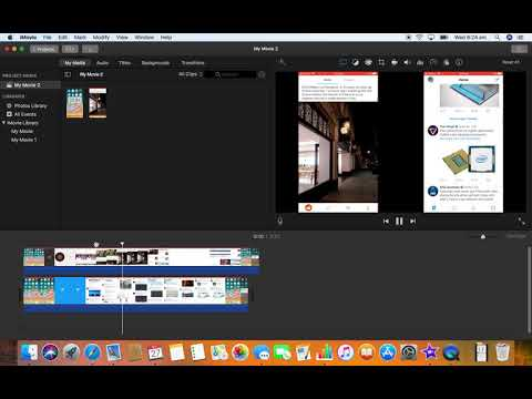 How to put two vertical videos side by side in iMovie