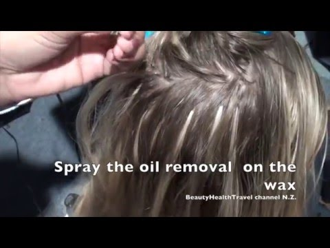 Hair Extensions  With Wax Applying and Removing