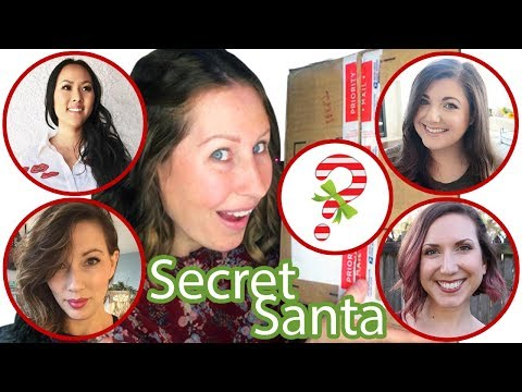 SECRET SANTA MYSTERY BOX!! with bitsandclips bits of paradis alittleaboutalot the mommy archives