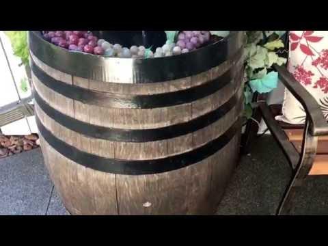 Wine Barrel Fountain Detail