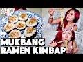 Ramen Kimbap Mukbang Q&a (vegan) | #17 (30 Videos In 30 Days) ♥ Cheap Lazy Vegan