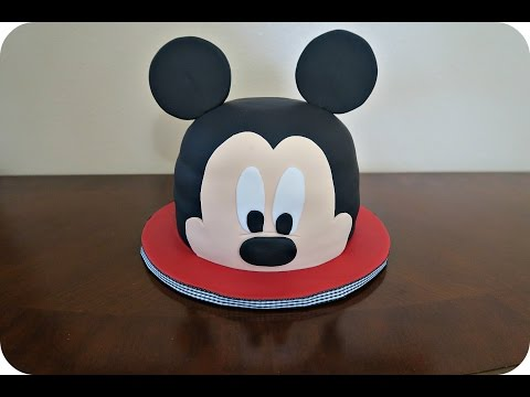 How to make a Mickey Mouse head fondant cake