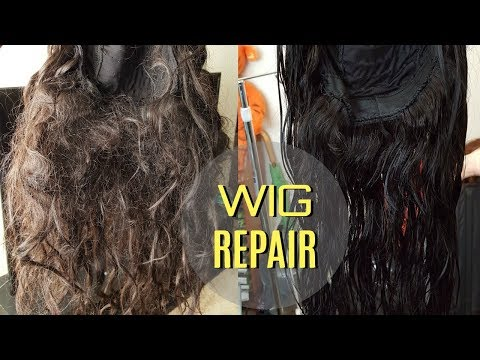WIG REPAIR | FROM TANGLED & MATTED TO BRAND NEW (TALK-THRU)