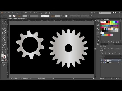 How to Draw a Gear in Adobe Illustrator