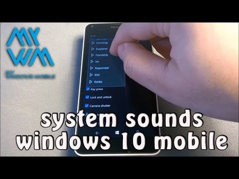 Windows 10 Mobile system sounds