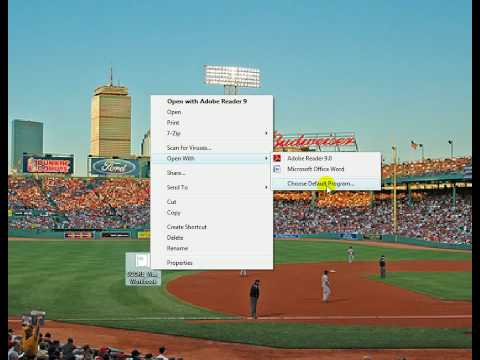Setting Adobe Reader as your default PDF viewer