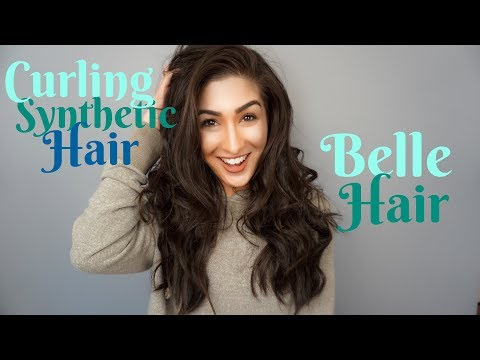 Curling My Belle Hair Extensions | Kanekalon Synthetic Hair