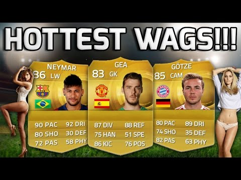 FIFA 15 - HOTTEST WAGS!!! - A Team Of Footballers With The Hottest WAGS! - Fifa 15 Squad Builder