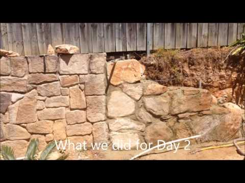 how to build a stone retaining wall pt.1