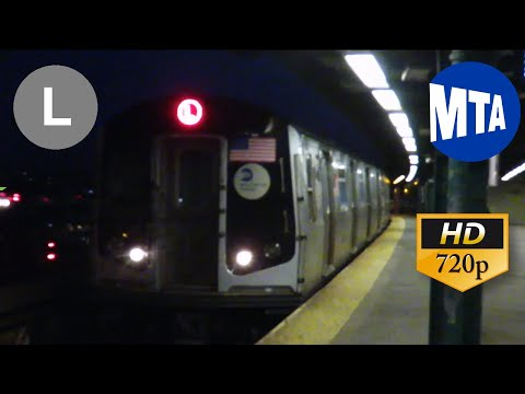 MTA NYC Subway Ride 2008 Alstom R160A #8622 on a Canarsie Bound L Train