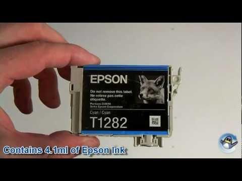 Inside Epson T1282 Cyan (Fox) Ink Cartridge