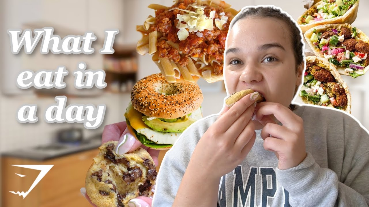 WHAT I EAT in a day as a mid-sized girl *non-restrictive, healthy*