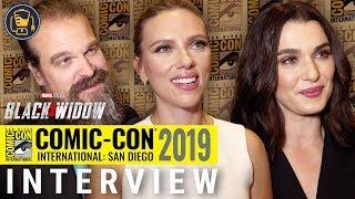 Black Widow Exclusive Interviews | Scarlett Johansson, David Harbour and More