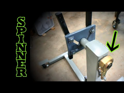 DIY AWESOME Heavy duty engine stand, Geared spinning head