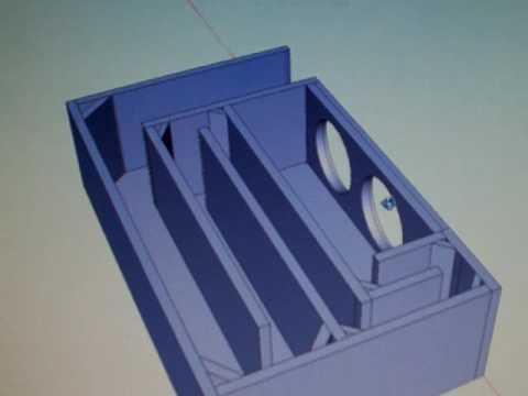 T-line Subwoofer 3D Enclosure Plan