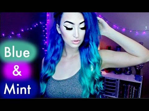 DYING MY HAIR BLUE/MINT - OMBRE