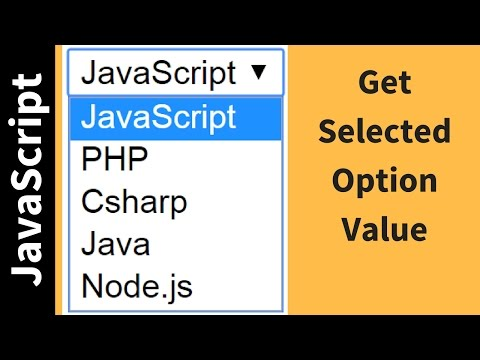 How To Get Selected Option Value From Drop Down List Using JavaScript [ with source code ]