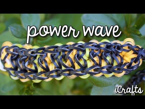 Power Wave Bracelet | Rainbow Loom Tutorial | One Loom