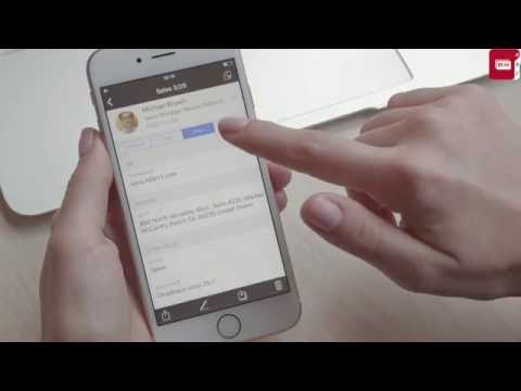 How to make notes to contacts with ABBYY Business Card Reader