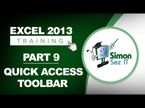 Excel 2013 for Beginners Part 9: The Quick Access Toolbar