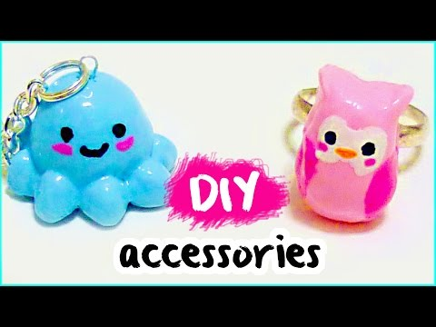 DIY JEWELRY ❤ cornstarch clay ACCESSORIES from scratch!!