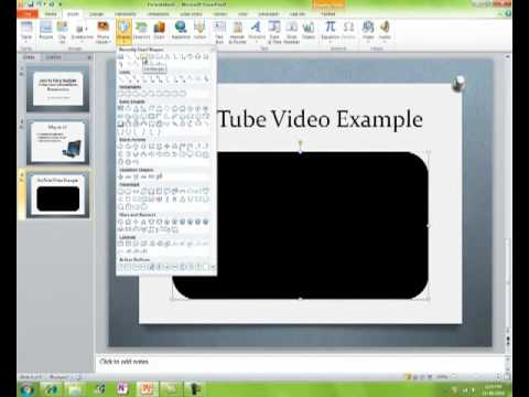 How to Put a YouTube video into a PowerPoint