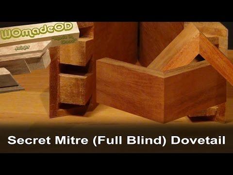 Secret Mitre Dovetail (Full Blind Dovetail) by hand - Full Version