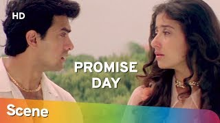 Aamir Khan & Manisha Koirala promise to meet | Romantic Scene | Mann |  Valentine