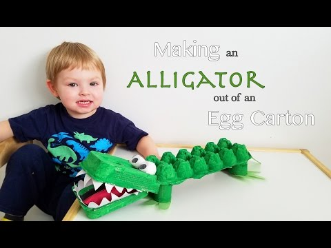Making an Alligator out of an Egg Carton