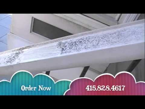 Genie Wonder Cleaner Cleans Mold And Mildew On Railing