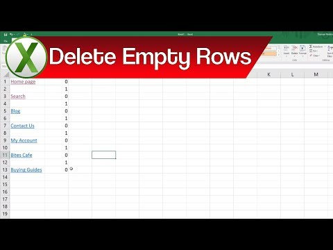 How to Filter Out and Delete Every Other Empty Row in Excel | Filtering in Excel