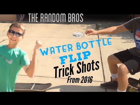 Water Bottle Flip Trickshots!! (From 2016) - The Random Bros