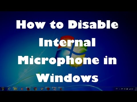 How to Disable Internal Microphone While Using An External Mic In Windows