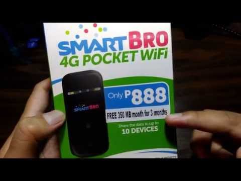 SmartBro 4G Pocket WiFi Unboxing