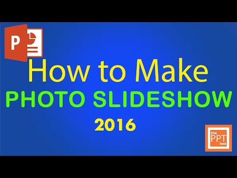 How to make photo slideshow in powerpoint 2016 - Beginners tutorial