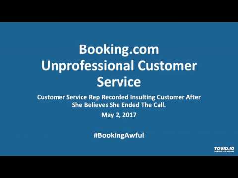 Booking.com Employee Caught Insulting Customer on Live Call