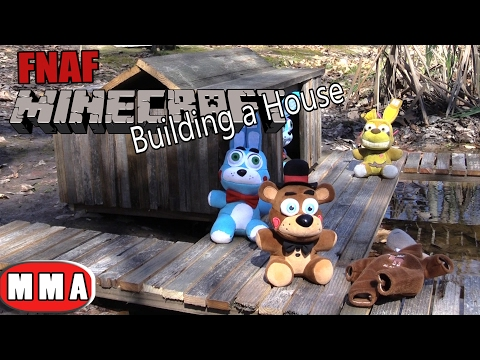 FNAF plush Minecraft 27- Building a House on the lake