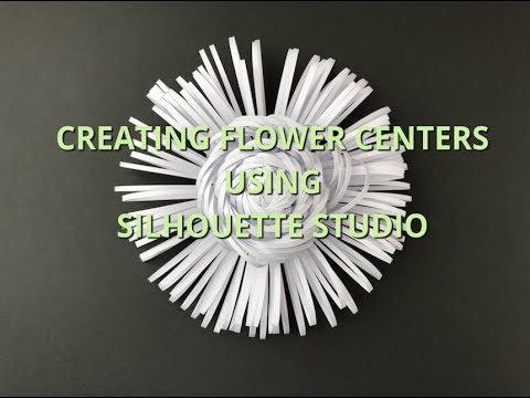 Creating Flower Center Files using Silhouette Cameo | Flower Center #7