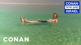 Conan Floats In The Dead Sea  - CONAN on TBS