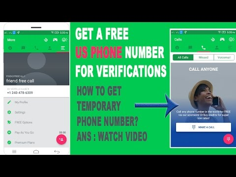 HOW TO Get A Free US Phone Number ( Temporary US Phone For Verifications )