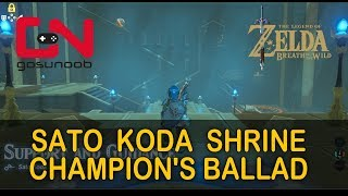 Zelda Botw Sato Koda Shrine Walkthrough - Support & Guidance   Champion