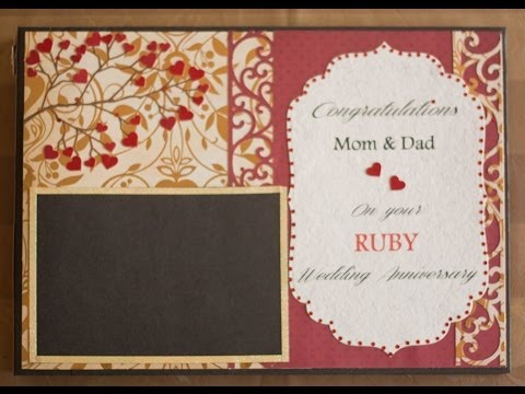 40th Ruby Anniversary Guestbook by Crafting Queen
