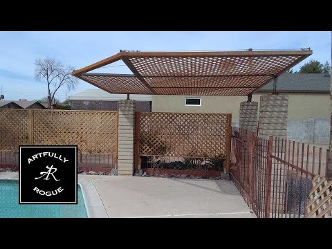 Building a suspended patio cover