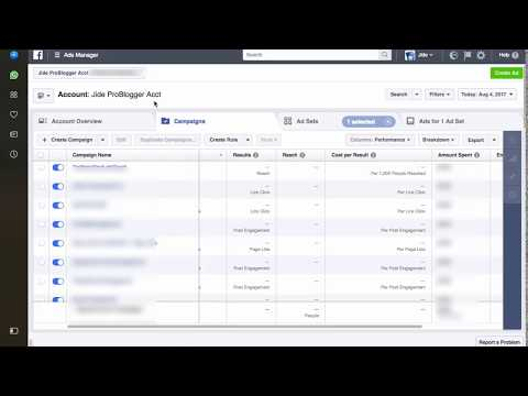 How To Change Objective of Facebook Ad Campaign