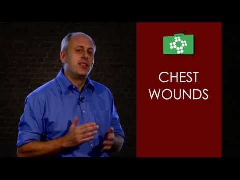 Chest wounds and their first aid treatment
